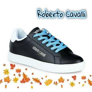 🔥 Roberto Cavalli Leather Sneakers